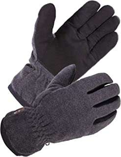 SKYDEER Winter Gloves with Soft Deerskin Suede Leather & Thermal Polar Fleece & Warm 3M Thinsulate Insulation (SD8661T)