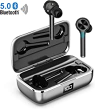 Wireless Earbuds, Upgrated Bluetooth V5.0 Earbuds Touch Control, True Wireless Headphones IPX6 Waterproof, Noise Reducion Stereo Headset Compatible iPhone Android Phone