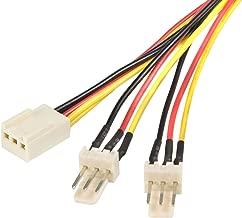 StarTech.com TX3 Fan Power Splitter Cable - Fan power splitter - 3 pin internal power (F) to 3 pin internal power (M) - 1 ft - TX3SPLIT12