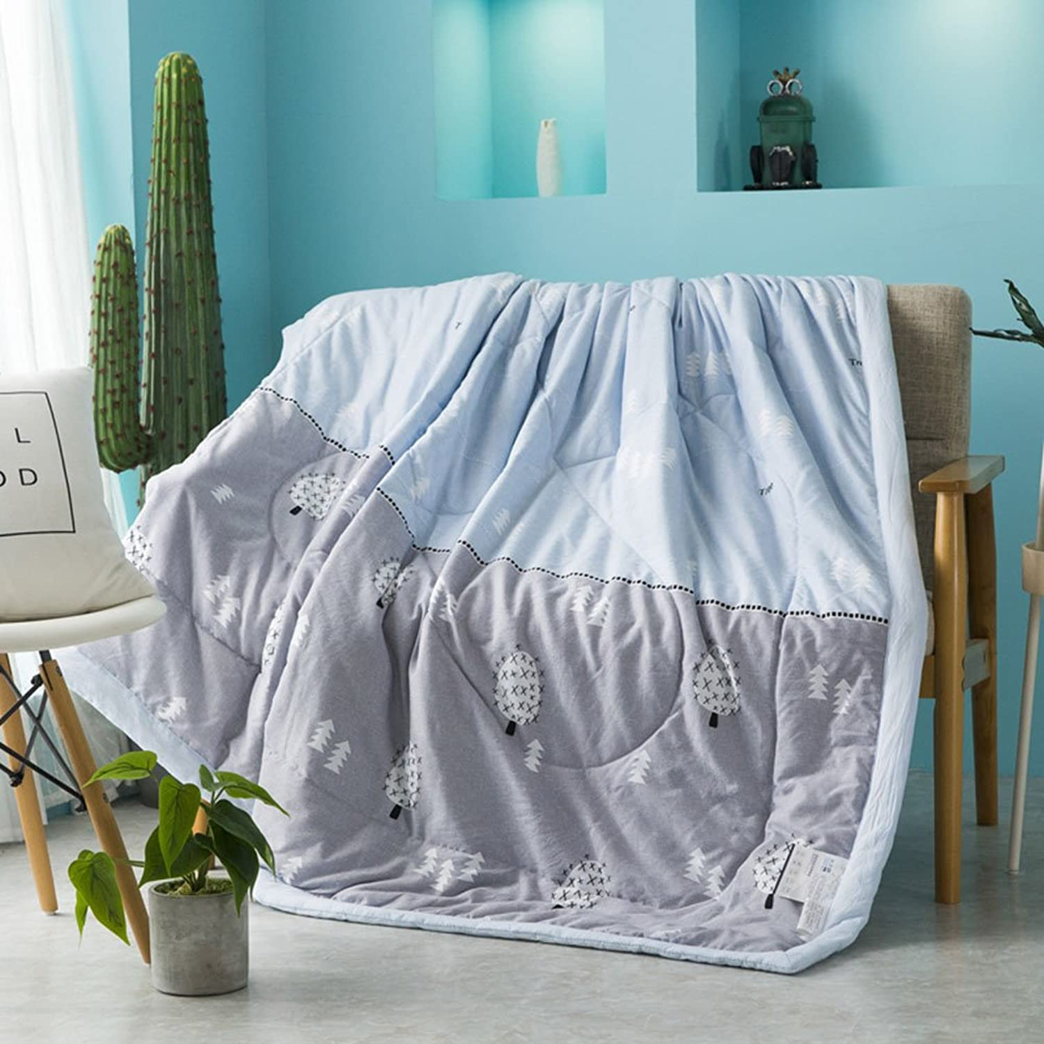 Uther Summer Thin Quilt Coverlet Lightweight for Adults and Teens Thin Comforter for Summer or Spring (Ant Forest,Twin)