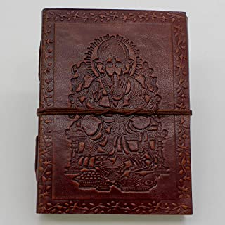 Ganesha Journal - Leather Journal for Men and Women - 200 Page Notebook and Travel Journal - SongWriting Journal and Artis...