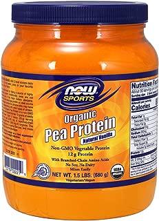 Now Sports Nutrition, Organic Pea Protein Powder, Natural Vanilla, 1.5-Pound