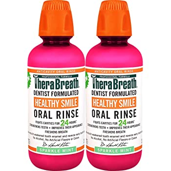 TheraBreath 24 Hour Healthy Smile Dentist Formulated Oral Rinse, 16 Ounce (Pack of 2)