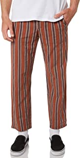 The Critical Slide Society Men's All Day Mens Stripe Pant Red