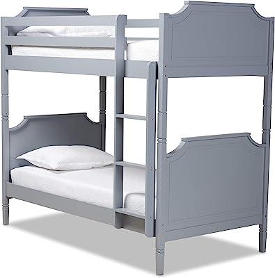 Baxton Studio Bunk Beds, Grey