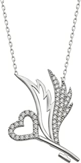 elisa silver pendant necklace