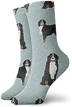 Bernese Mountain Dog Pet Quilt B Coordinate Dog Fabric Classics Compression Socks Sport Athletic 11.8inch(30CM) Long Crew Socks for Men Women