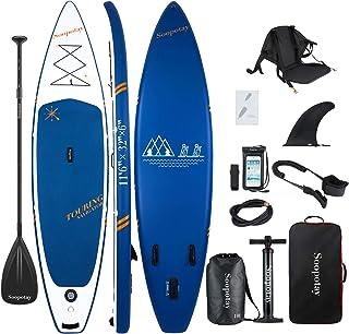 Baturu - Tabla de paddle surf (SUP) hinchable, tabla de surf de remo, 350 x 81 x 15 cm, paquete iSUP con todos los accesorios