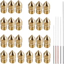 AFUNTA 24pcs MK8 Brass Extruder Nozzle Print Head & 5pcs Cleaning Needles for 1.75mm Makerbot Creality CR-10 ANET A8 CR-10...