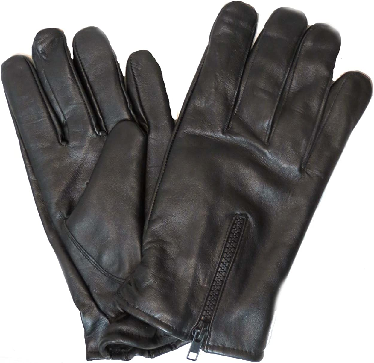 Genuine Leather Unisex Windproof Thermal Full Finger Warm Fleece Lined Driving Gloves 2140 US (Medium)