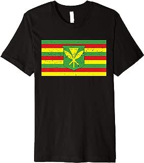 Native Hawaiian Flag Defend Mauna Kea Sacred Aloha Resist   Premium T-Shirt