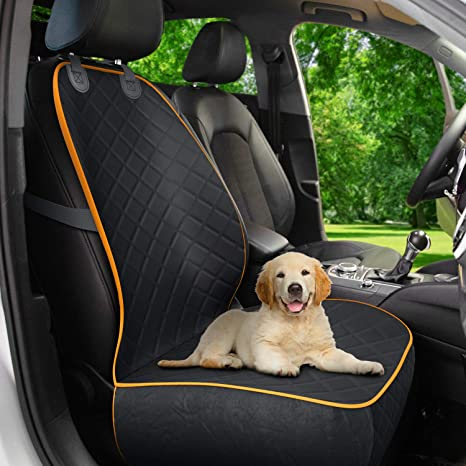 Active Pets Front Seat Dog Cover, Durable Protector Against Mud & Fur Waterproof, Scratch Proof & Nonslip Seat Pet Cover -Dog Car Seat Cover for Front Seat for Cars, Trucks & SUVs: image