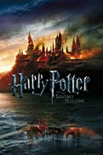 Harry Potter and The Deathly Hallows - Movie Poster (Advance Style - Hogwarts On Fire) (Size: 24 inches x 36 inches)