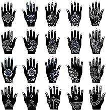 Xmasir Henna Tattoo Stencil Kit/Temporary Tattoo Template Set of 20 Sheets, Indian..