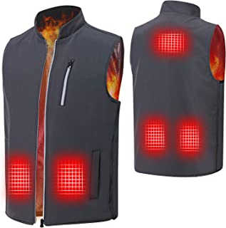 Heated Vest for Men, Electric Heating Vest with Side Band Elastic Adjustment for Outdoor Indoor