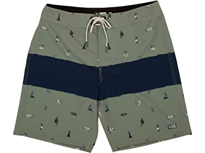 Salty Crew Bow Line Boardshorts (Olive) Men