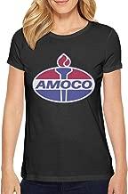cIcUDsQ T-Shirt Linen Amoco Logo Transparent Women's Clothing Solid Solid T Shirts