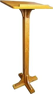 FixtureDisplays Birch Wood Podium, Pulpit, Floor-Standing Lectern for School, Church, Business, Speech, 41.5