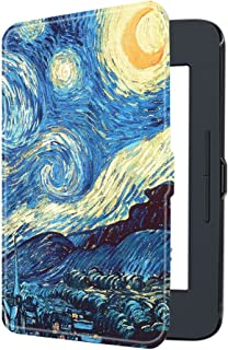 Fintie Nook GlowLight 3 SlimShell Case - Ultra Thin and Lightweight PU Leather Protective Cover for Barnes & Noble Nook GlowLight 3 eReader 2017 Release (Model# BNRV520), Starry Night