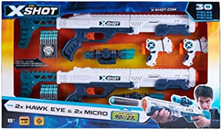 Zuru X-Shot Excel Combo 2 Hawk Eye & 2 Micro (36278)