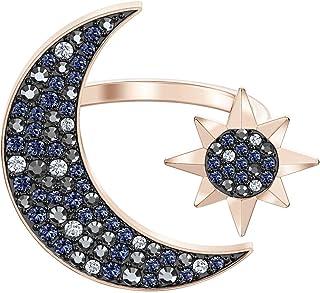 Swa Symbolic Moon Multi-Colored Rose Gold Plated Big