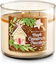 Bath and Body Works Maple Cinnamon Pancakes Candle 3 Wick 14.5 Ounce Winter 2016 New