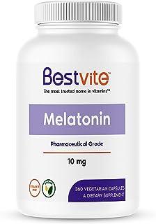 Melatonin 10mg (360 Vegetarian Capsules) (120 x 3) - No Stearates - Vegan - Non GMO - Gluten Free