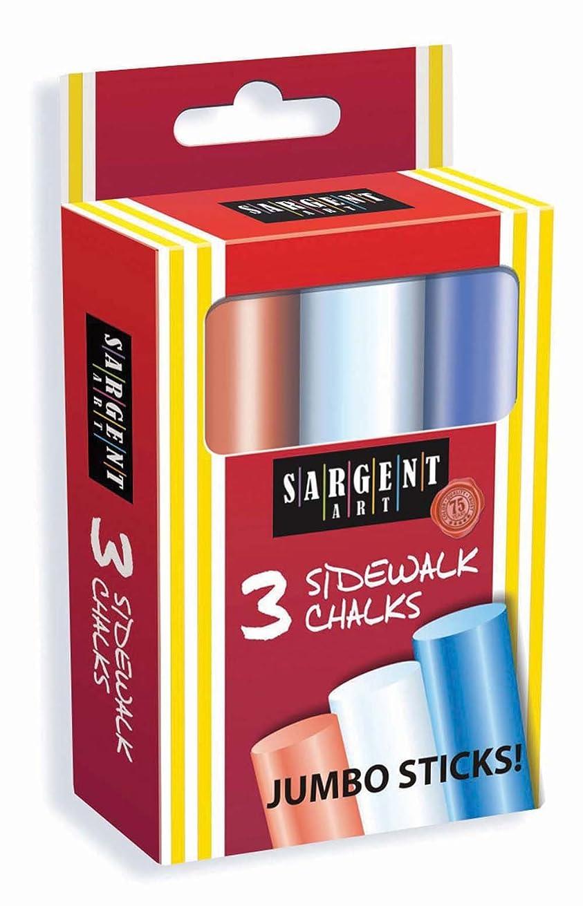 Sargent Art 66-3000 3-Count Jumbo Sidewalk / Hopscotch Chalks