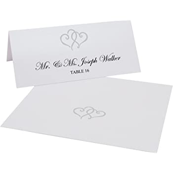 2 x 4 1//2 100//Pack JAM Paper /& Envelope SG/_B00GHP5UNY/_US JAM PAPER Foldover Wedding Table Place Cards Off White with Embossed Border