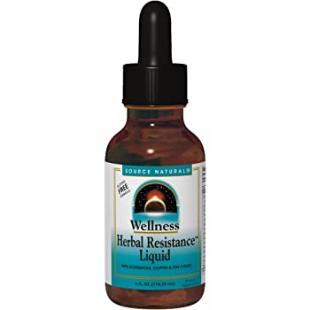 Source Naturals Wellness Herbal Resistance Liquid Immune Defense Supplement & Immunity Booster with Echinacea, Elderberry & Yin Chiao - Alcohol Free - 4 OZ