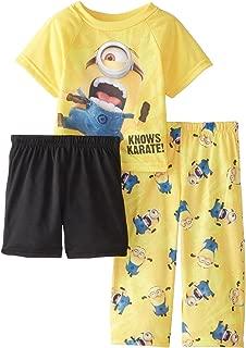 Little Boys' Toddler Karate Minion 3-Piece Pajama Set