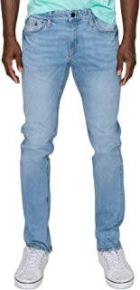 RING OF FIRE Men's Tape Straight Denim Stretch Jeans