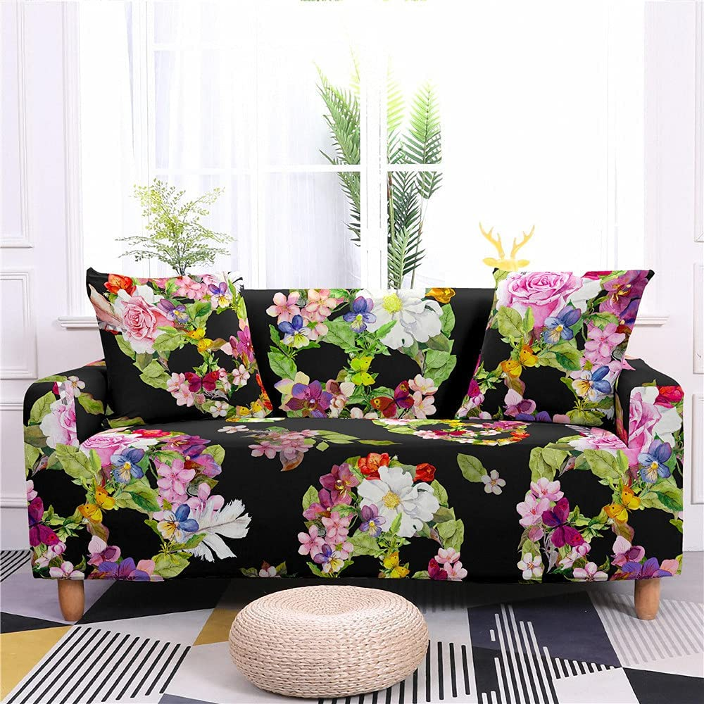 AMZAO High Stretch Sofa Covers 1 2 Flower 4 Skel Seater Jacksonville Spasm price Mall 3 Burial