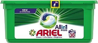 Ariel 3in1 Pods, Washing Liquid Capsules, Original Scent, 30 Count