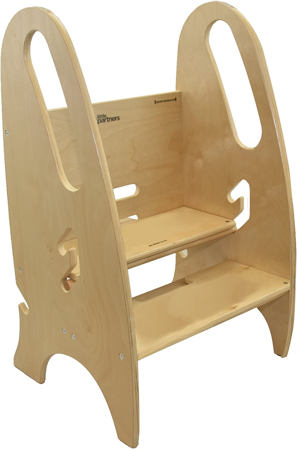 Little Partners 3-in-1 Growing Step Stool, Natural