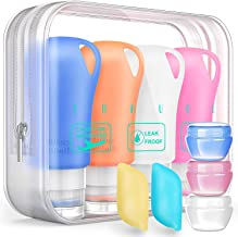 Silicone Travel Bottles Set,Leak Proof Travel Size container For Toiletries,Leak Proof Silicone Travel Accessories And Con...