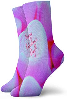 Crew Socks Happy Valentines Day Athletic Socks Designer Anti Bacterial Odor Cushion Short Boot Stocking