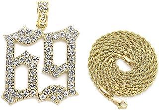NYFASHION101 POW Polished Pendant w// 4mm 36 Franco Chain Necklace