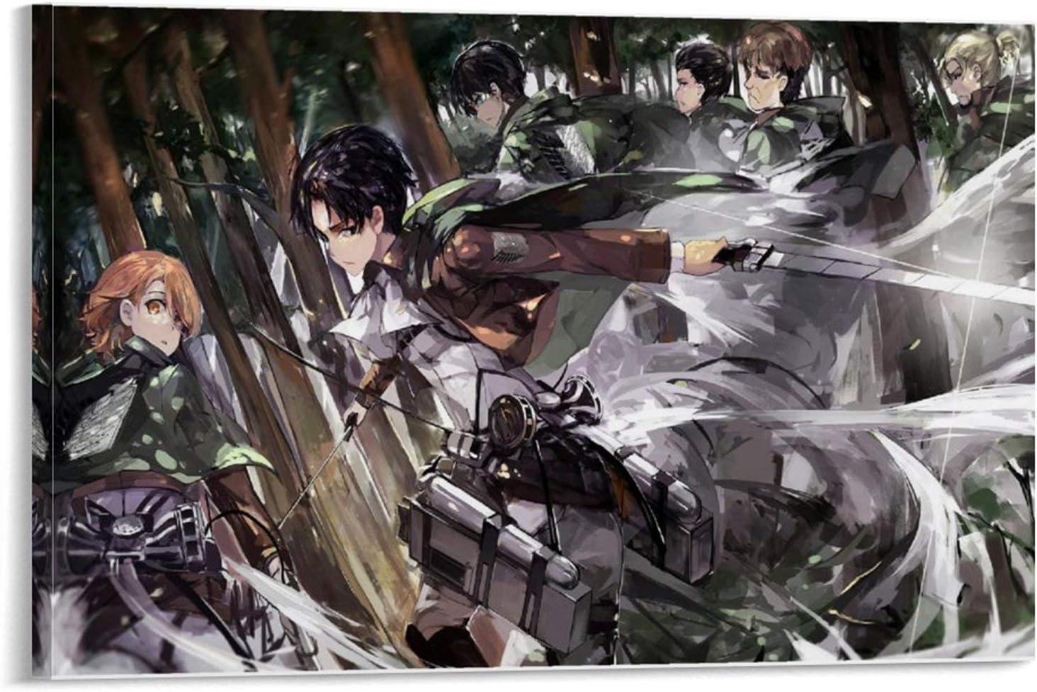 p/óster moderno para decoraci/ón de dormitorio familiar xingqisi P/óster art/ístico de Anime Shingeki No Kyojin 104 Eren Yeager y arte de pared 20 x 30 cm