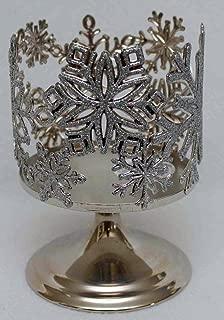 Bath & Body Works Sparkling Snowflake Pedestal 3 Wick Candle Sleeve Holder