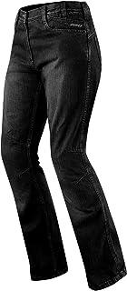 Preisvergleich für A-Pro Jeans Ladies Denim CE Knee Armored Motorcycle Motorbike Bikers Pants Black 30 preisvergleich