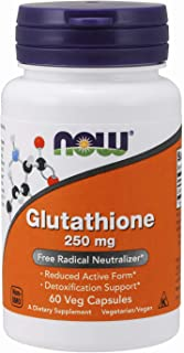 Now Supplements, Glutathione 250 mg, 60 Veg Capsules