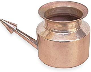 Indian Fancy Copper Neti Pot - Natural Ayurveda Cleaning System for Sinus & Nasal Passage - 3