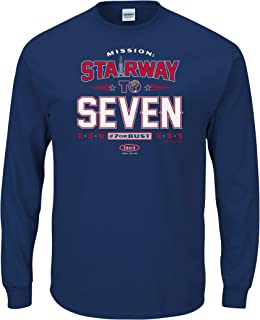 Smack Apparel NE Football Fans. Stairway to Seven Navy T-Shirt (Sm-5X)