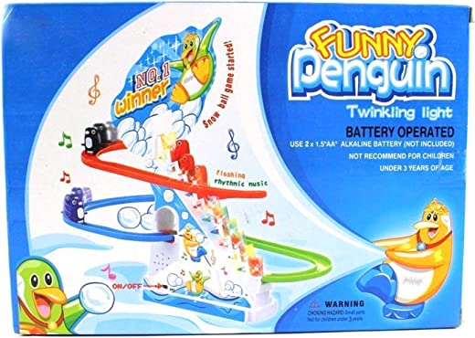 Penguin Twinkling Track Set Race Track Series with Music Light for Kids