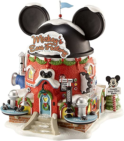Department 56 North Pole Village Mickey S Ear Factory Miniature Lit Building