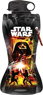 Vandor 99210 Star Wars 24 oz Collapsible Water Bottle, Multicolor