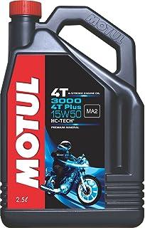Motul 3000 4T Plus 15W50 API SM HC Tech Engine Oil for Royal Enfield Bullets (2.5 L)