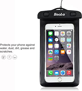 Becko Black Waterproof Case Touch Responsive Front and Back, Universal Waterproof Wallet, Dry Bag, Pouch for 4.7