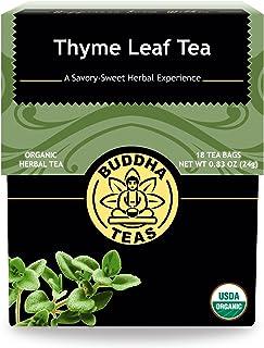Buddha Teas Organic Thyme Leaf Tea | 18 Bags | Decaffeinated | Aids Digestion | Made in the USA